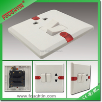 2 gang 16A electrical switch socket with colorful screw cover