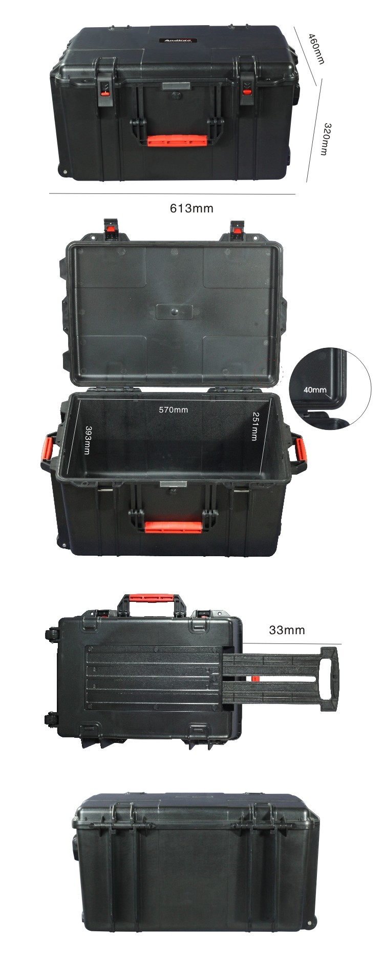 Plastic seald equipment case