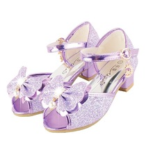 2017 Diamond Children Princess Sandals Butterfly Design High-Heeled Shoes
