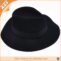 100% polyester felt trilby men fedora hat for horsemen