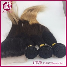 Malaysian Virgin Hair Ombre 8A Ombre Human Hair Extensions 3 Bundles Three Tone Colored Ombre Straight Hair Sale