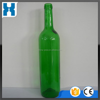 China good supplier promotional square shaped glass wine bottle 750ml