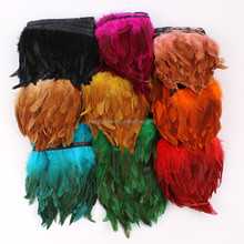 wholesale coque rooster trim feather strung saddle for party trims
