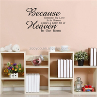 ZOOYOO wall stickers new brand quotation decals popular stock decorations decorative wall stickers manufacturer (8303)