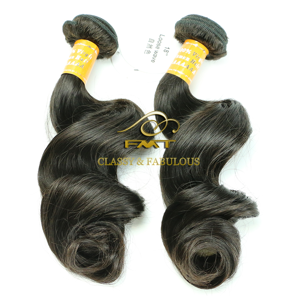 High quality real human hair natural black indian 100% loose human hair bulk extension