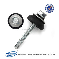 Supply good quality hex head self drilling screws, roofing screws. long drilling tips