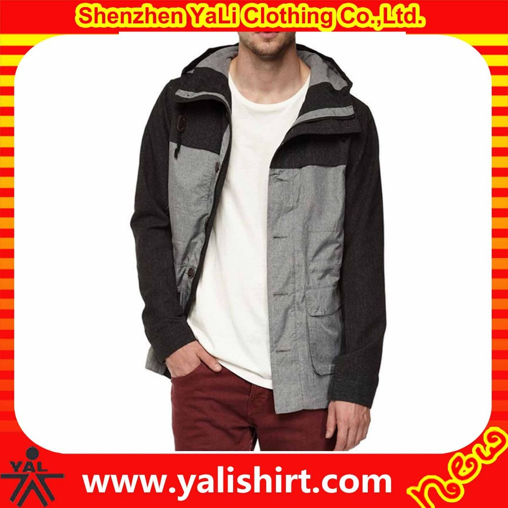 Custom made high quality plain utility 100%polyester contrast color anorak m65 field jacket