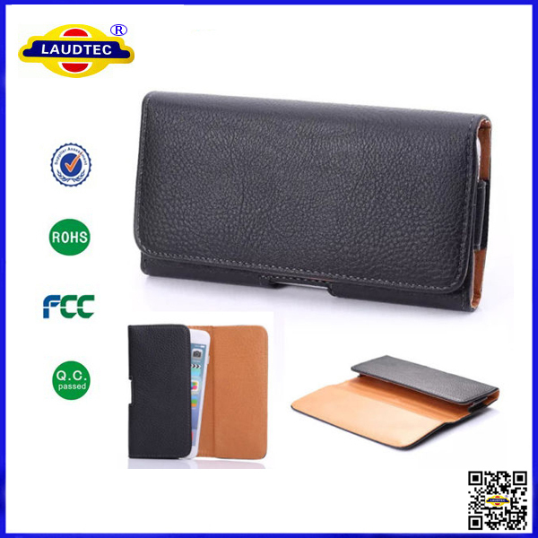 Magnetic Leather Pouch Belt Clip Case Holster for Various Phones Models Laudtec
