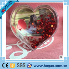 Beautiful Heart-shaped Personalized Snow Globe,picture insert snow globe