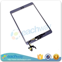 100% Tested Touch Screen For ipad mini 3 Tablet Touchscreen Panel Digitizer + IC + Adhesive + Home Button Assembly Full Set