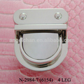 Manufacturer sales N-2984-7 (6154) turn lock lady's bag lock / metal buckles for bags high quality