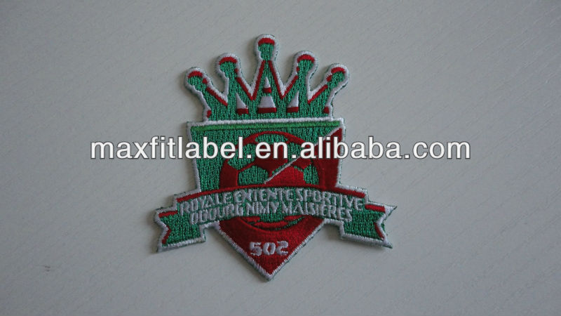 Crown Factory Broderie, Letter Embroidery Patch, 3D Patch