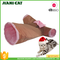 cheap price cute cloth shape pet product Collapsible Portable cat tunnel