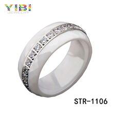 Surgical grade OEM stainless steel ring zircon ring female love