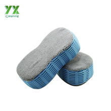 2IN1 Microfiber Terry Cloth Car Cleaning Sponge With Mesh