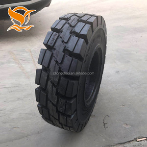 Industrial 300mm skid steer solid rubber tire fast delivery from china