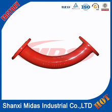cast ductile iron fcd45 long radius 45 degree pipe bend