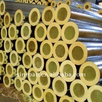 Insulation glasswool pipe with aluminum foil ourside