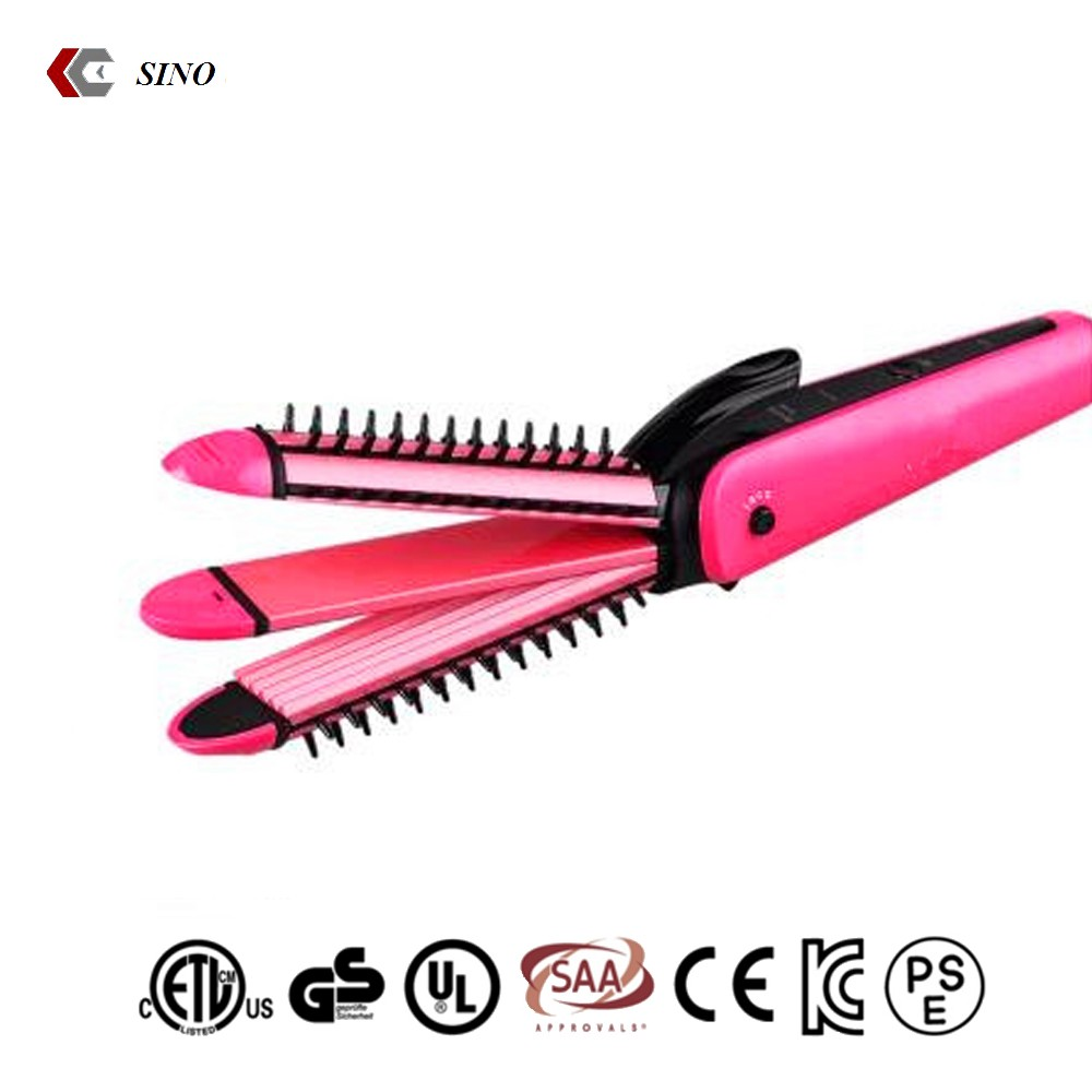 Hair Curler and Straightener with comb