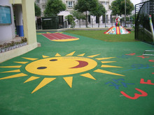 Colored EPDM Rubber Chips Mulch For Playground FN-J-1503197
