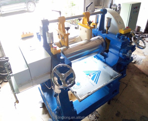 Rubber Silicone Two Roll Open Mixing Mill Machine