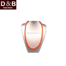 HYN0580-035 Wholesales most popular safe little round beaded silicone baby teeth necklace