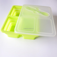 Collapsible Silicone Square Thermo Food Container