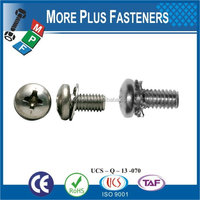 Taiwan Stainless Steel 18-8 Copper Brass Aluminum Brass Captive Washer Cap Screw Decorative Screws With Washers Male And Female