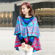 Circular round double reversible custom-made printed indian ethnic cashmere shawl