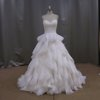 Top hot sale ruffled organza bridal gowns