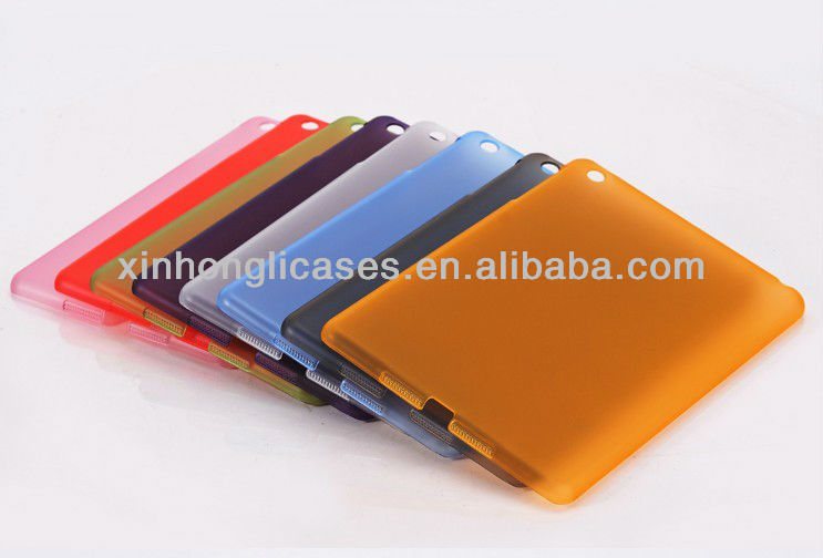 Ultrathin transparent glossy hard case cover for iPad 3, For iPad smart case