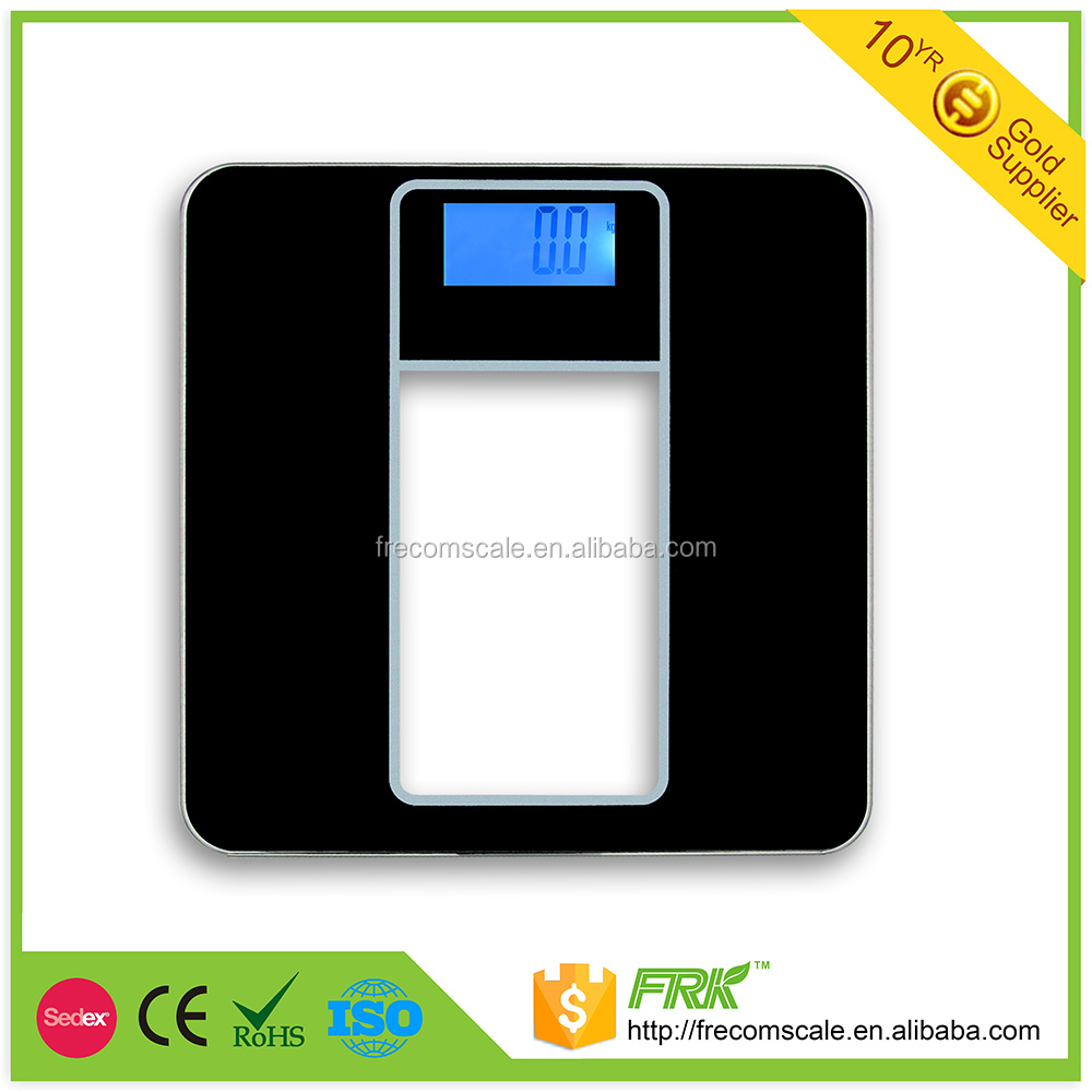 2016 new arrival hot sell scale model for body weighting household 180kg with clear glass and color printer