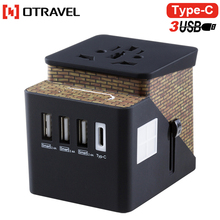 Casstle Multi-Function Power Plug Travel Adapter with USB Outlet