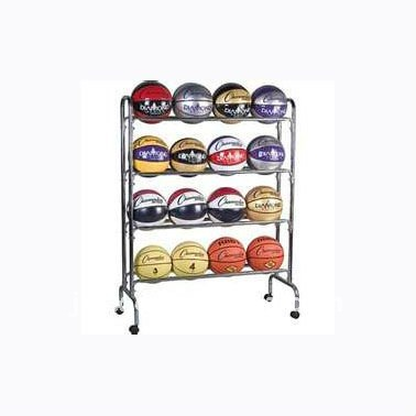 S6207 metal 4 Tier 16 ball storage cart