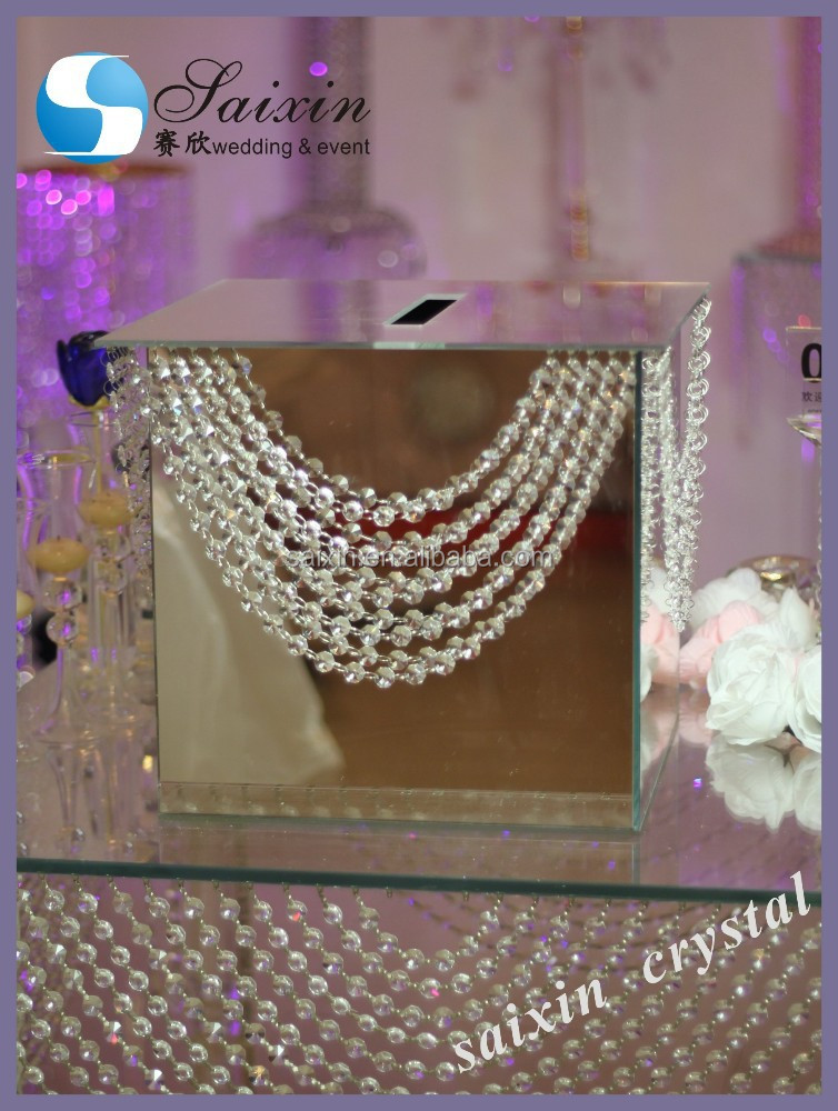 New crystal mirror money box zt 198b buy wedding for How to decorate a money box