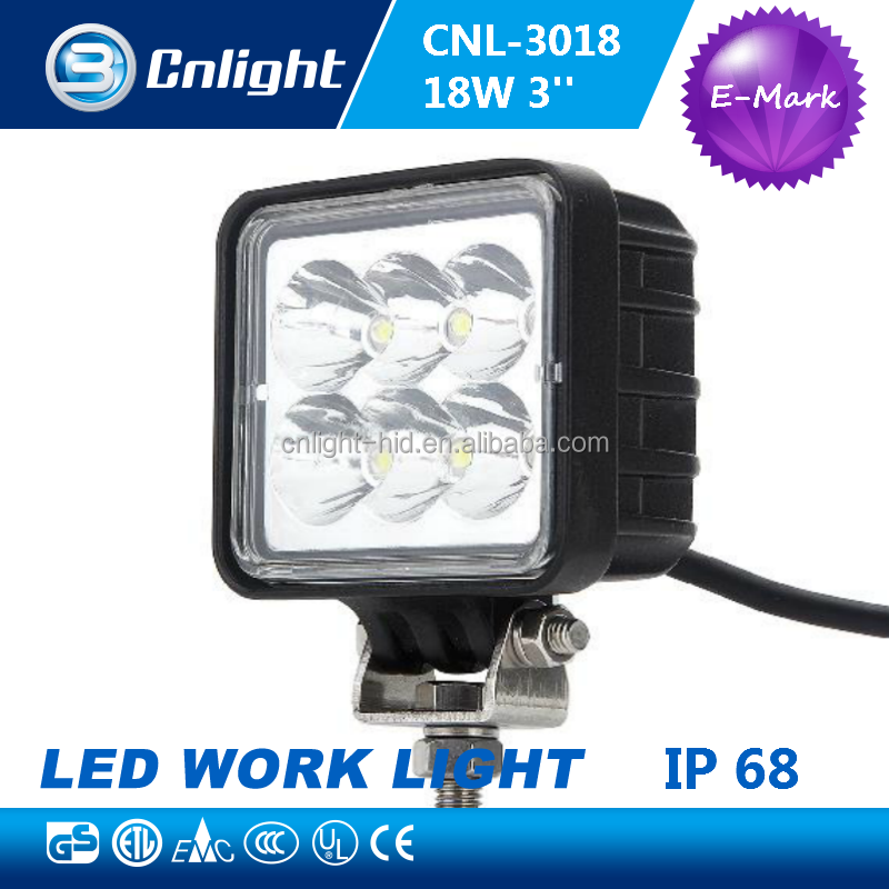 factory wholesale promotion 18w 1260lmE-mark Off-Road vehicles Car AUTO Parts c-rees spot led work light IP68/CE/FCC/EMC