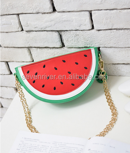 fruit model design girls leather shoulder messenger bag