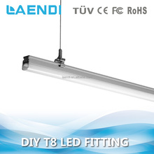 Custom single/double/twin 900mm batten t8 tube 24w integrated led light fitting