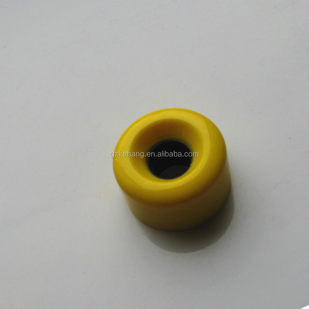 High rebound yellow polyurethane skateboard or longboard wheels, wheels for two wheels self balancing sooter
