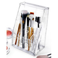 Eye Pencil acrylic Brush Strong Makeup Cosmetics Organizer Stand Beauty Saloon acrylic Make Up brush holder