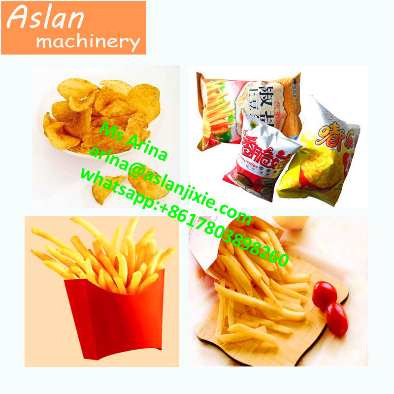 Potato Chips Making Machine/50kg/h French Fries Production Line/ fried potato stick machine