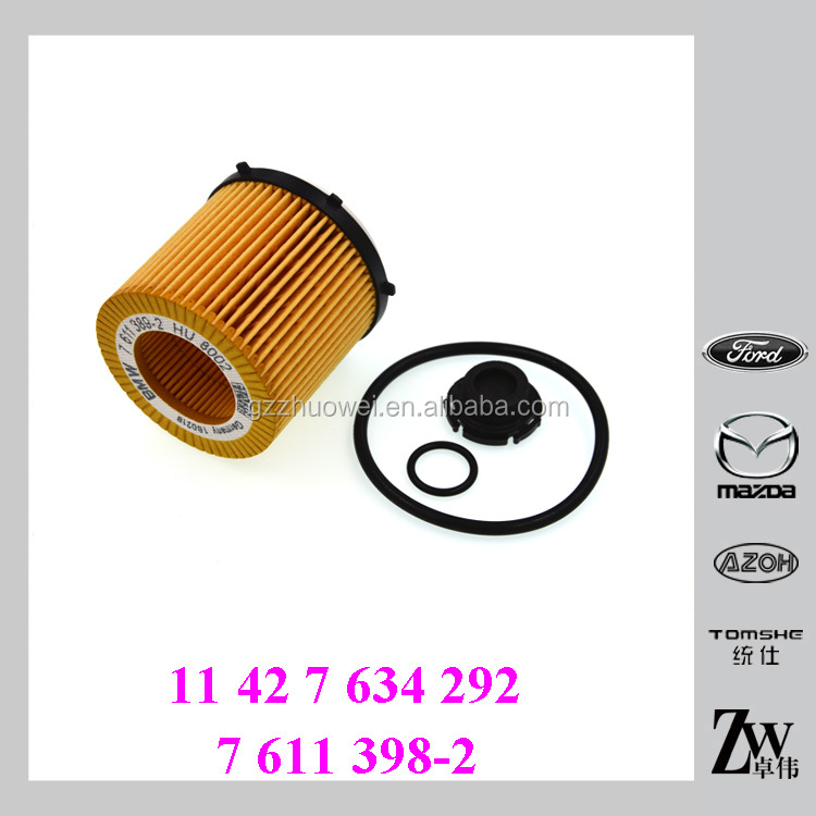 Oil filter Kit 11 42 7 634 292, 7 611 398-2 For BMW Car Engine 2.0L 328i 528i X1