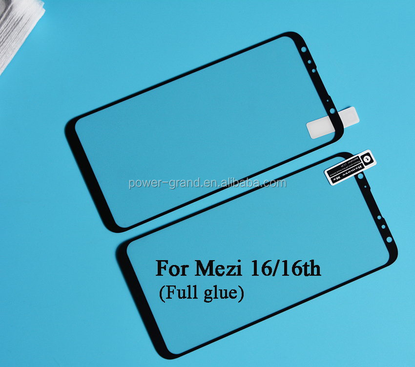 2.5D 9H Silk printing FULL Glue full cover Tempered glass screen protector for Meizu 16 16th