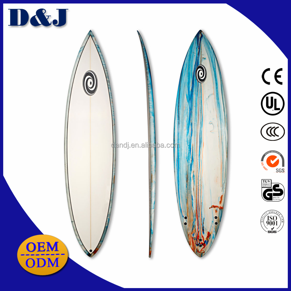 Jet surf power surfboard with board fins
