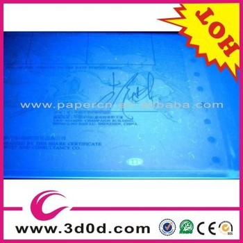 uv watermark paper This is the reason most watermark papers are off-white in colour and is essential if invisible uv fibres or uv printing is to show up clearly on the paper surface.