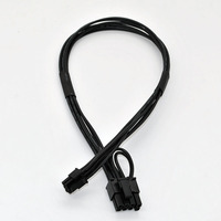 ACC-Th8012 Mini 6pin to 6pin 8pin(6+2) PCI-e Video Card Power Cable