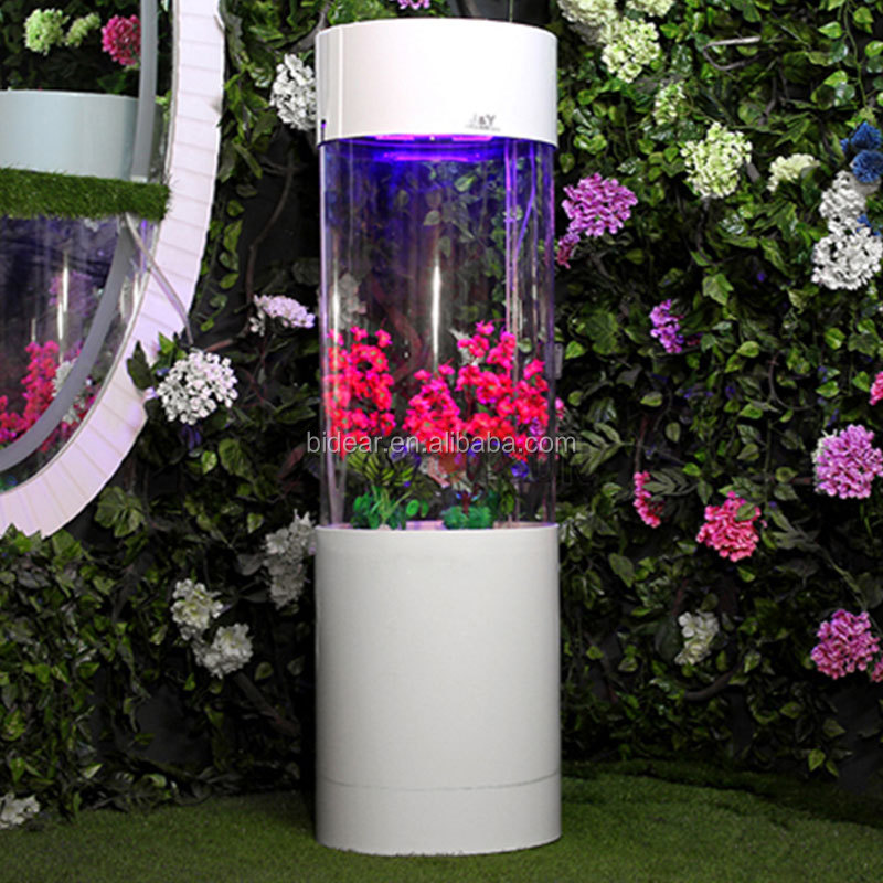 custom tall acrylic cylinder aquarium