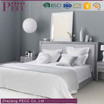 BS-0042 Washed Breathable Hot Selling Natural Comfort White Hotel Wholesale Bedding Set