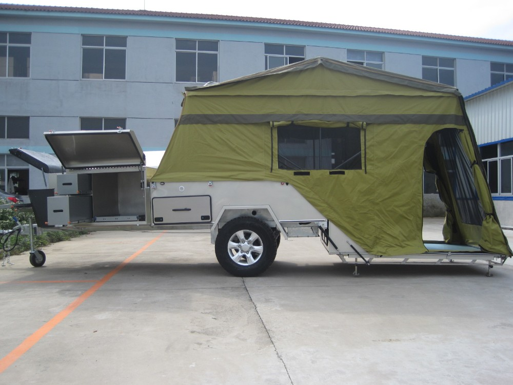Cool  Hard Floor Camper Trailer With Tent  China Travel Trailer For Sale