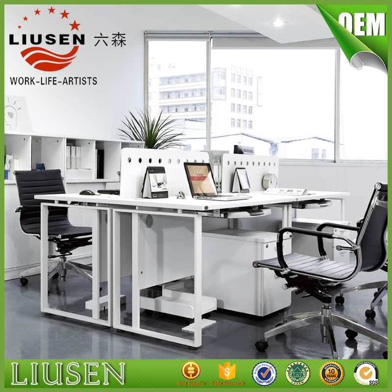Factory wholesale price white office furniture 6 people workstation modern office cubicles